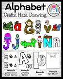Back to School Alphabet Craft Activities, Hats, & Drawing