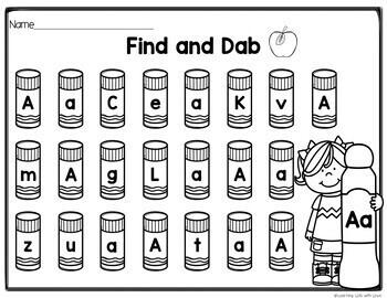 Back to School Alphabet Dab