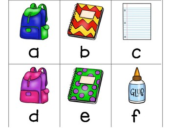 Back to School Alphabet Identification
