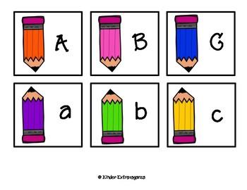 Back to School Alphabet Match