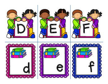 Back to School Alphabet Match Center Kindergarten