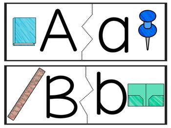 Back to School Alphabet Matching