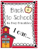 Back to School (Alphabet & Numbers) - NO PREP PRINTABLES