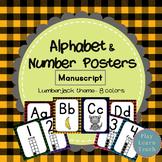 Alphabet & Number Posters - Plaid
