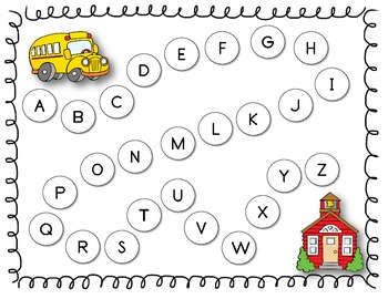Back to School Alphabet Order FREEBIE