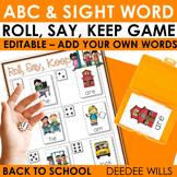 Back to School Alphabet Roll, Say, Keep ~ editable