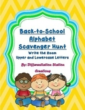 Back-to-School Alphabet Scavenger Hunt: Write the Room