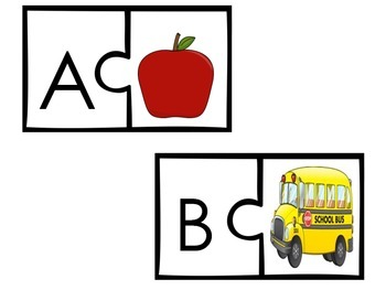 Back to School Alphabet Sort and Learn