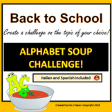 Back to School: Alphabet Soup Challenge--Create the Challe
