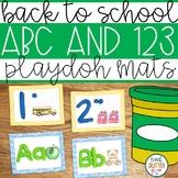 Back to School Alphabet & Number Sense Playdoh/Mini Eraser Mats