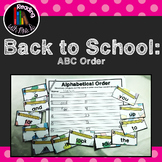 Back to School Alphabetical ABC order Dolch Sorting cards