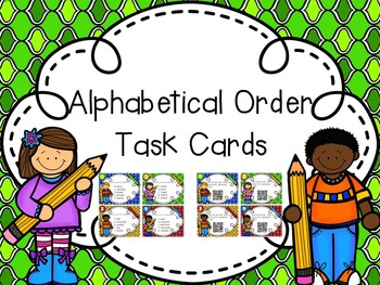Back to School Alphabetical Order Task Cards (with QR Code Option)