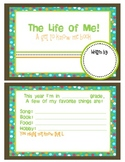 Back to School: An All About Me Book