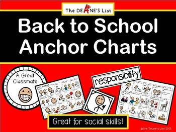 Back to School Anchor Charts (with SymbolStix)
