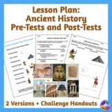 Back to School Ancient History Pre-Test & Post-Test Lesson Plan