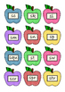 Back to School Apple Bobbing Games for S blend phonics