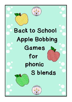 Back to School Apple Bobbing Games for S blend phonics