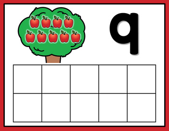 Back to School Apple Counting Mats