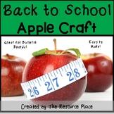 Back to School Apple Craft!