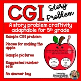 Back to School Apple Craftivity 5th Grade   CGI Story/Word Problem   Multi Step