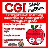 Back to School Apple Craftivity   CGI Word Problem   Story Problem