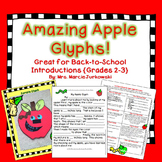 Back to School Apple Craftivity Glyph Writing Introduction Activity Grades 2-3