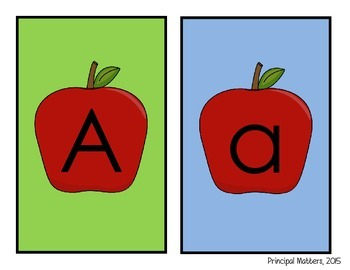 Back to School Apple Letter/Number Game