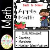 Back to School Apple Math