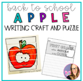 Back to School Apple Puzzles and Writing Pages (Prek- 2nd Grade)