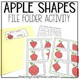 Apple Shapes File Folder Activities