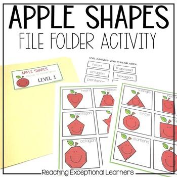 Apple Shapes File Folder Activities