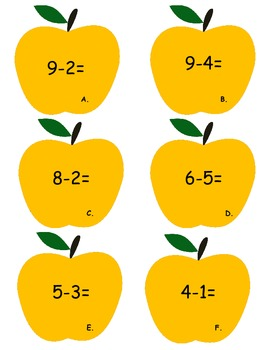 Back to School: Apple Themed Math Centers