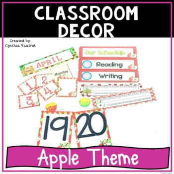 Back to School Classroom Decor Apples Theme