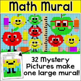 Back to School Apples Math Mystery Pictures Mural