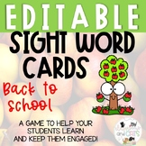Back to School Apples sight word game