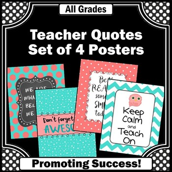 Owl Classroom Theme End of Year Teacher Appreciation Gifts Aqua and Coral
