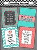 Aqua & Coral Owl Classroom Decor Inspirational Quotes Moti