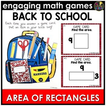 Back to School Area of Rectangles
