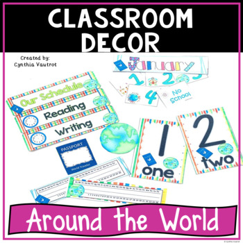 Back to School Classroom Decor Around the World Theme