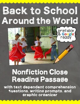 Back to School Around the World: Reading Comprehension & Questions Pack