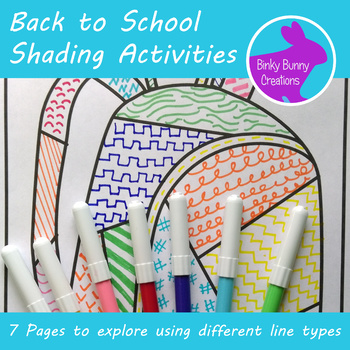 Back to School Art Activity Exploring Line Types Coloring Pages