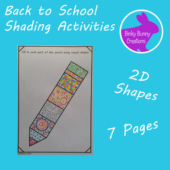 Back to School Art Activity Exploring Shape Coloring Pages