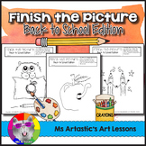 Back to School Art Activity: Finish the Picture!