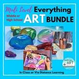 HIGH SCHOOL ART PROJECT LESSON BUNDLE/Beginner-Advanced: D