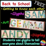 Back to School Art Idea for First Week Display - All About Me