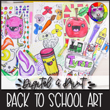 Back to School, Art Lessons Booklet, Distance Learning {DI