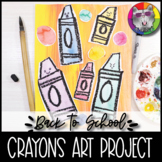 Back to School Art Lesson, Crayon Mixed Media, Primary Art