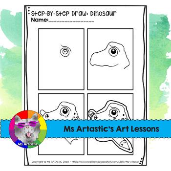 Back to School Art Project, Dinosaur