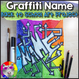 Back to School Art Project, Graffiti Name Color Wheel