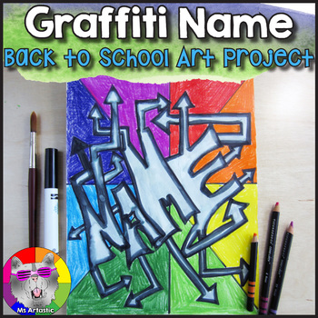 7464dd5a Back to School Art Project, Graffiti Name Color Wheel by Ms Artastic